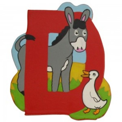 Magnetic Animal Letter - upper case D (6)