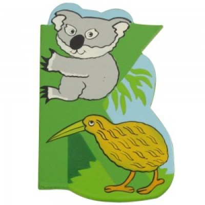 Magnetic Animal Letter - upper case K (6)