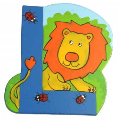 Magnetic Animal Letter - upper case L (6)