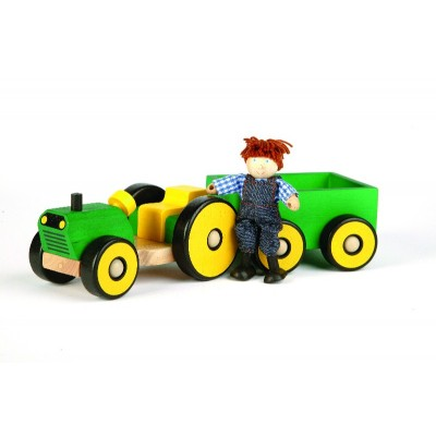 Tractor & Trailer With Farmer