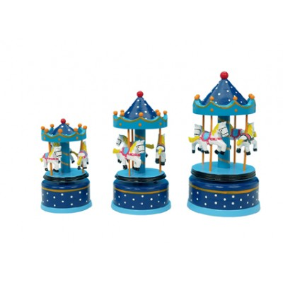 Music  Carousel - Wooden Blue 21cm